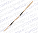 Black Bamboo Twisted Straight Stick
