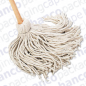 Mop with Wooden Handle